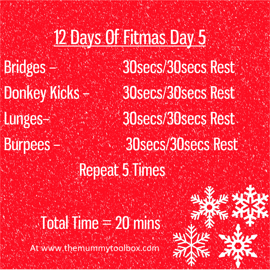 The 12 Days of Fitmas - Day 5