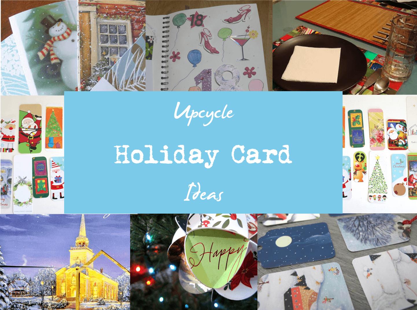 Upcycle Holiday Card Ideas - The Mummy Toolbox