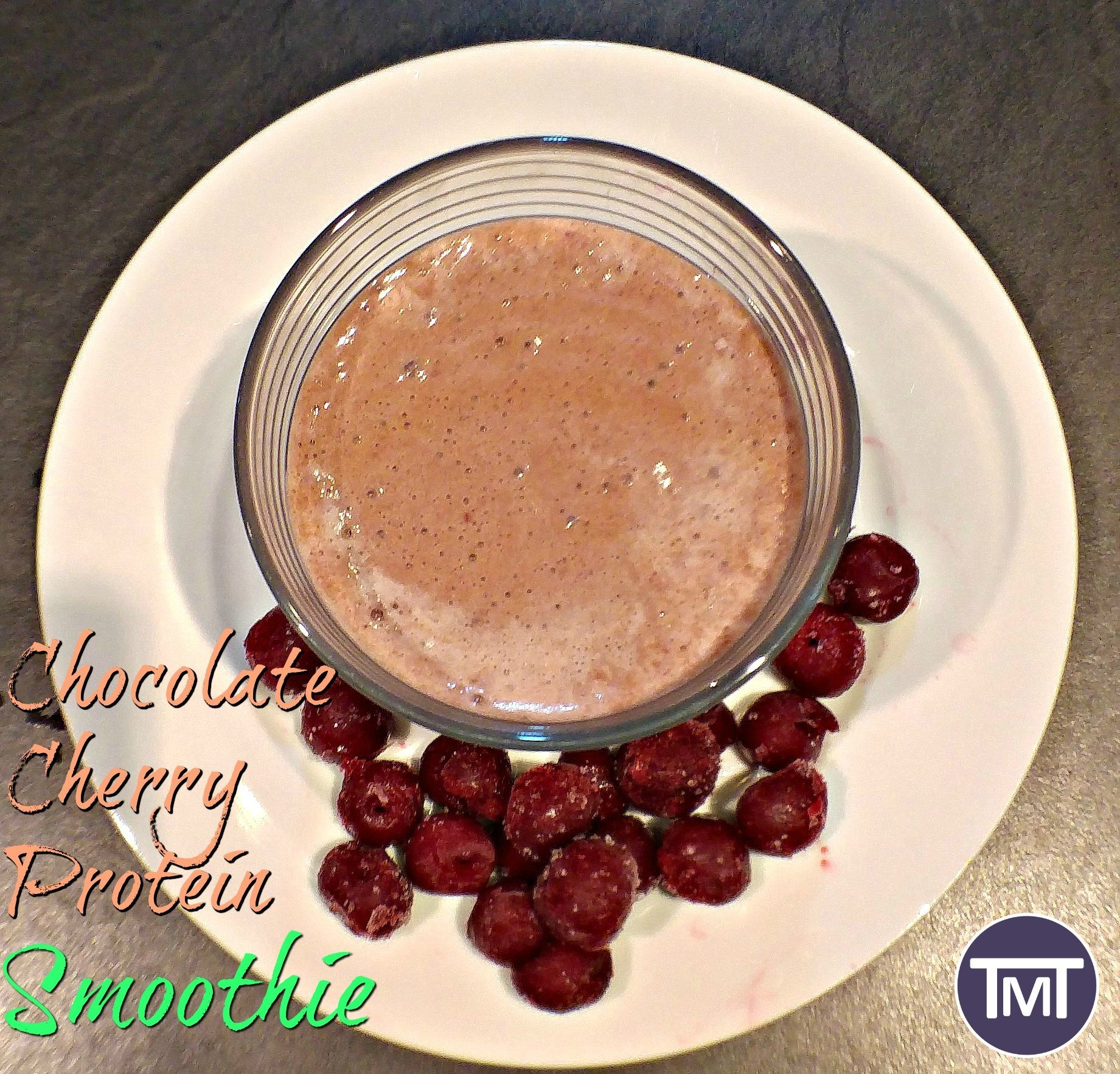 chocolate cherry protein smoothie